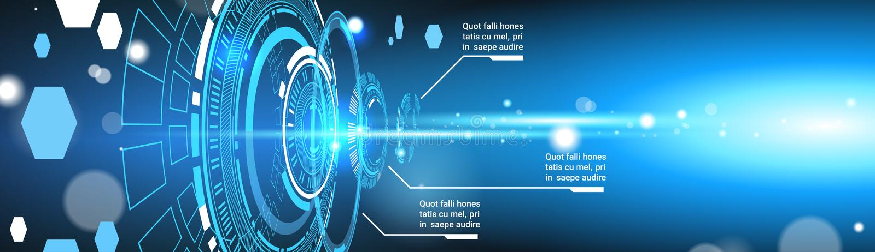 Set Komputerowej Futurystycznej Infographic elementów techniki tła szablonu Abstrakcjonistyczne mapy I wykres, Horyzontalny sztan ilustracji