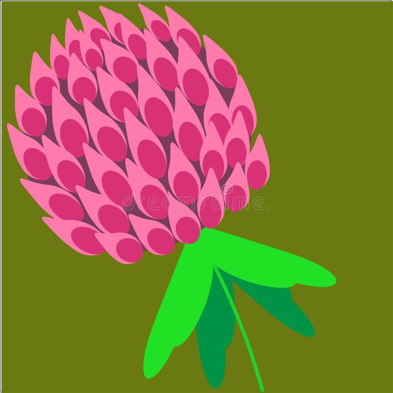 Set koniczyna opuszcza, symbol szczęście, koniczynowy kwiat royalty ilustracja