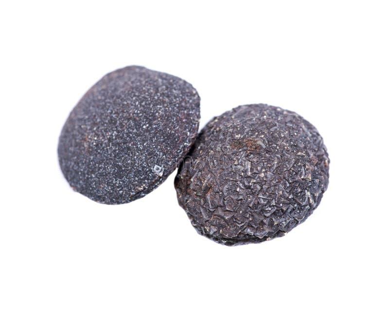 Set konkrecja kamienie od południowo-zachodni Kansas, usa Kansas wystrzału skały odizolowywać na bielu Zawiera samiec krystalizuj zdjęcia royalty free
