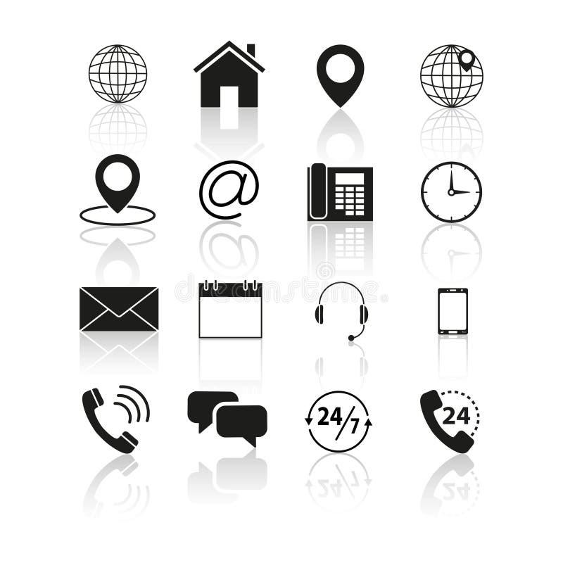 Set kontakty my ikony ilustracji