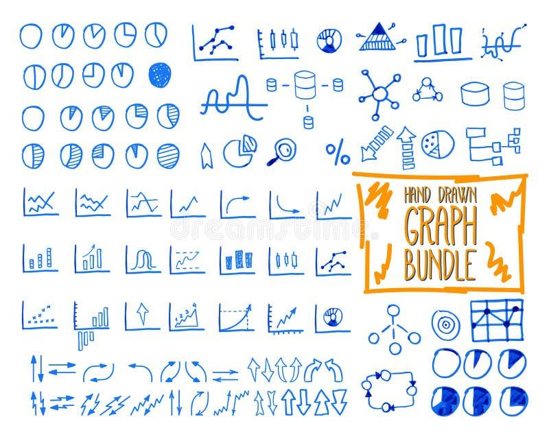 Set konturu doodle, kreślący, ręka rysująca ilustracji