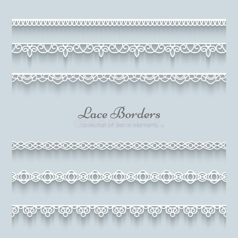 Set koronkowe granicy ilustracji