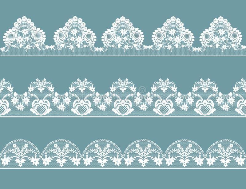 Set koronkowe granicy ilustracja wektor