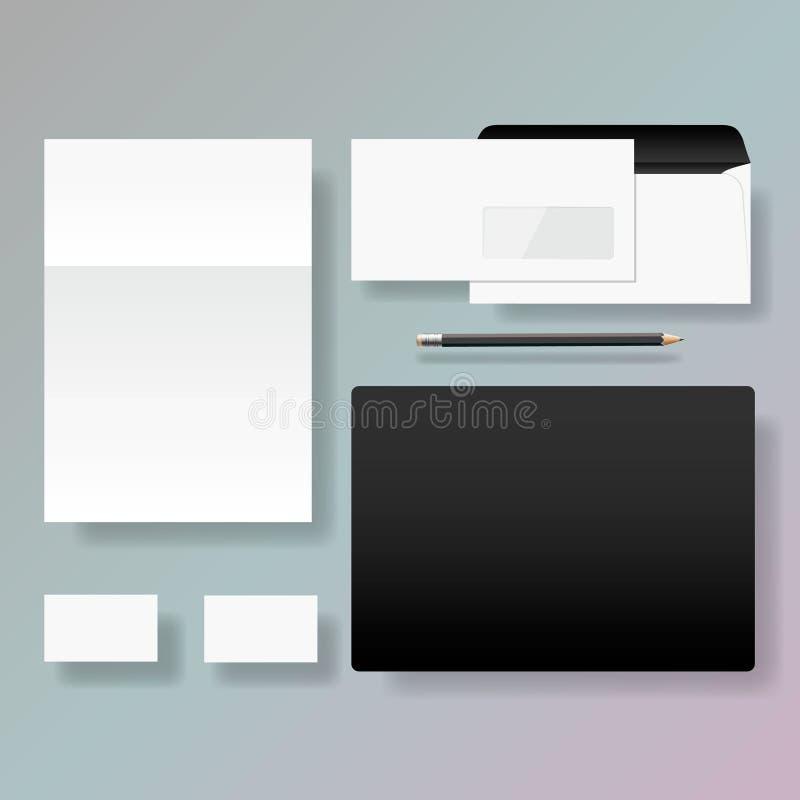 Download Set Korporacyjnej Tożsamości Stylu Szablonu Projekt Ilustracja Wektor - Ilustracja złożonej z tło, elementy: 28956313