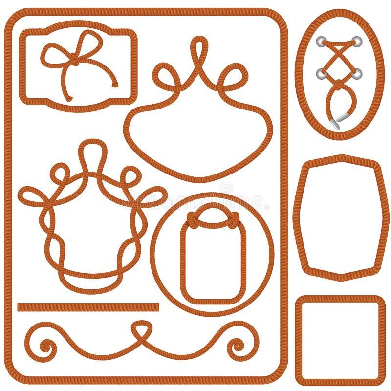 Set Kręcone arkan ramy, granicy i ilustracji