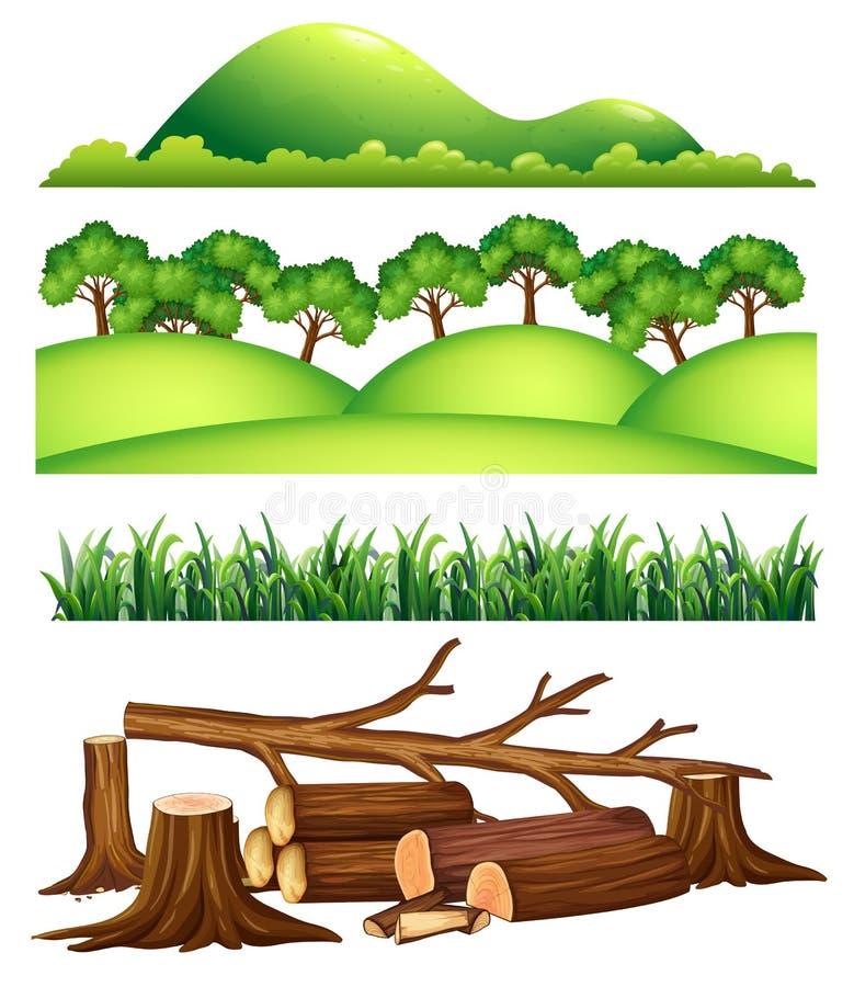 Set Krajobrazowy element ilustracji