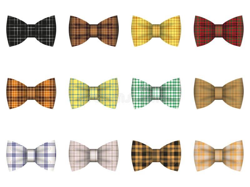 Set krawatów łęki ilustracji