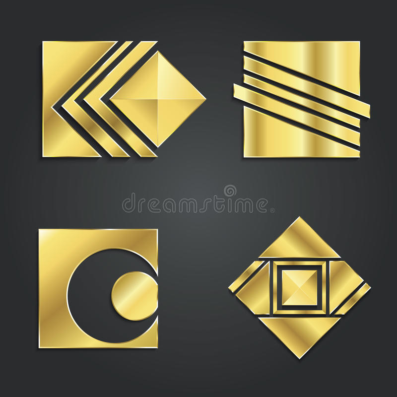 Set Kreatywnie wektorowy loga projekt royalty ilustracja