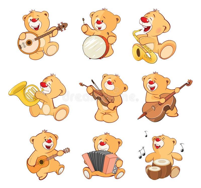 Set kreskówka ilustracja Faszerujący niedźwiedzie dla ciebie Projektuje ilustracja wektor