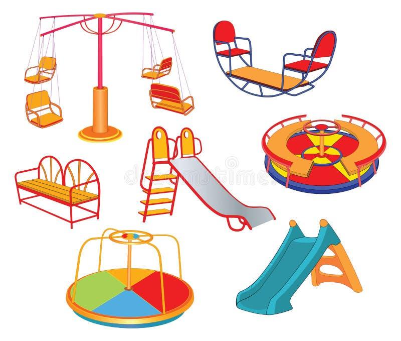 Set kreskówki ilustracja S dziecka ` huśtawki ilustracji