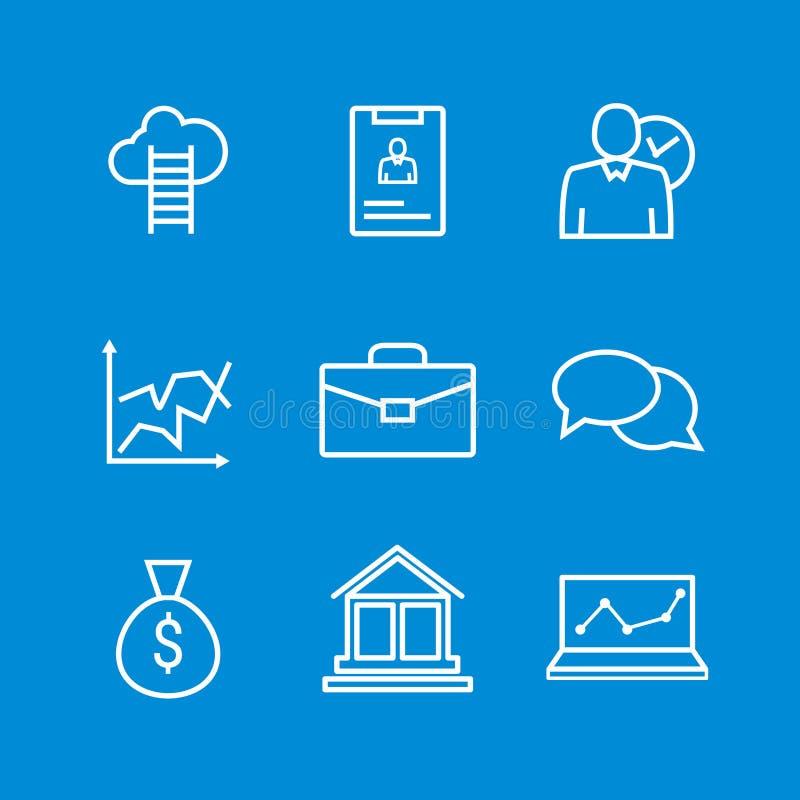 Set kreskowe ikony ludzie biznesu organizacj, działu zasobów ludzkich zarządzanie, firma rozwój, kariera postęp ilustracja wektor