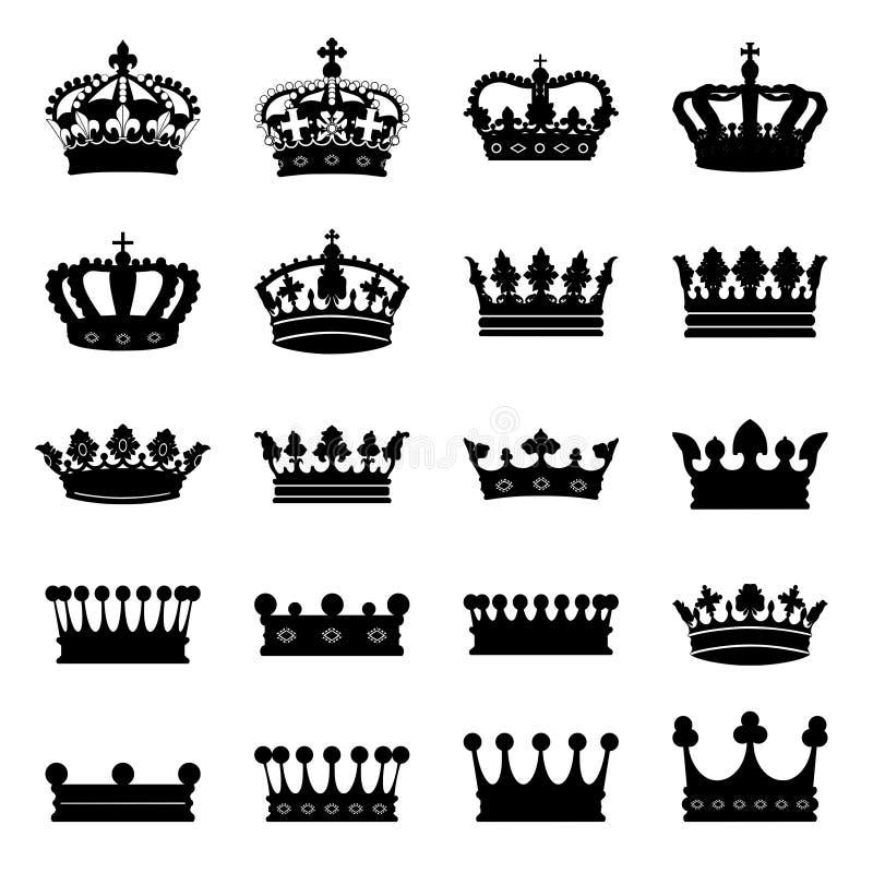 Set Kronen lizenzfreie abbildung