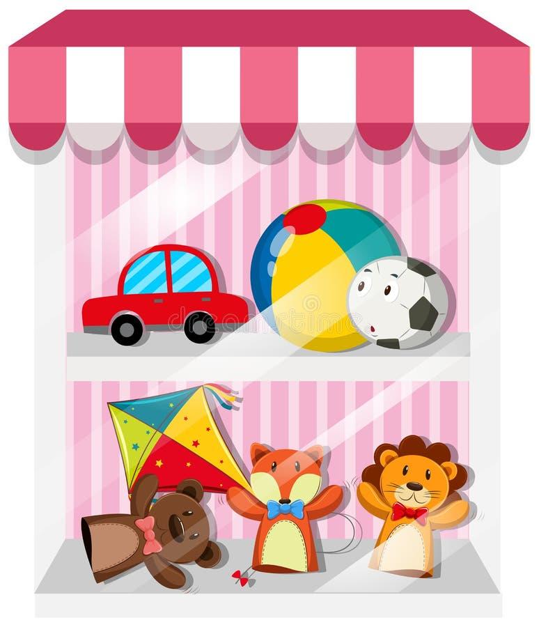 Set kukły i zabawki royalty ilustracja