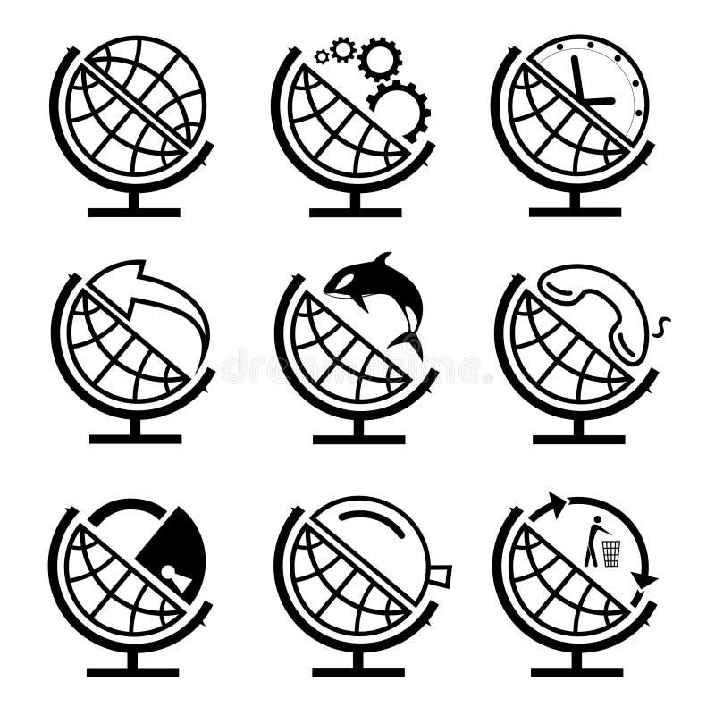 Set kula ziemska ilustracji