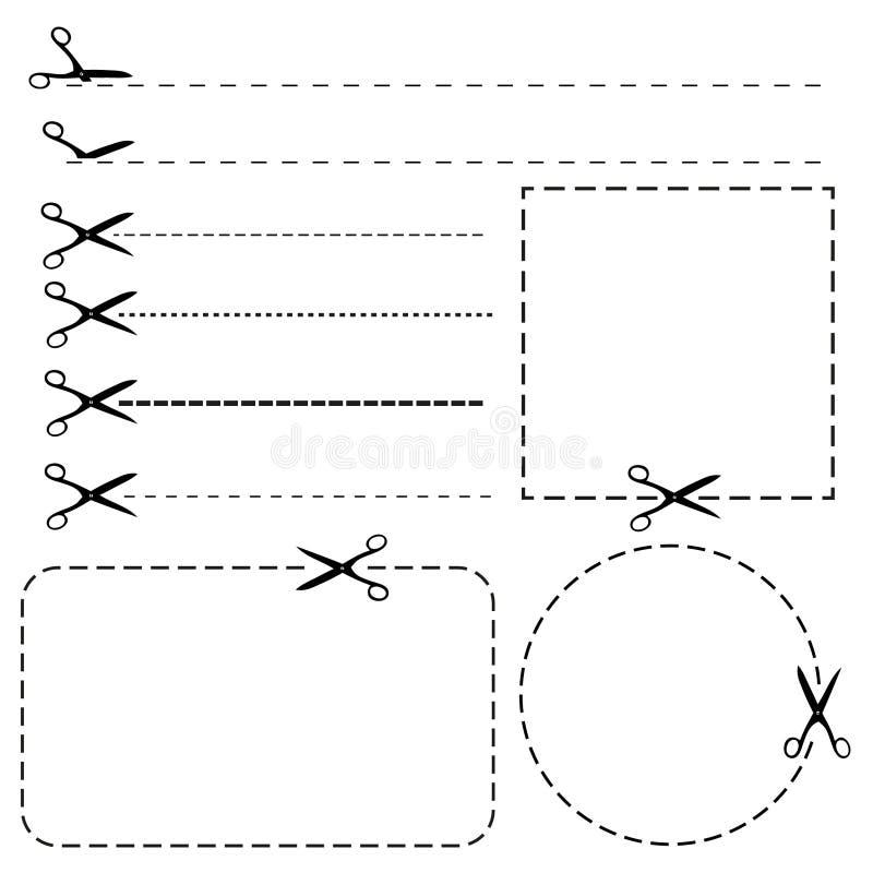 Set Kuponränder lizenzfreie abbildung