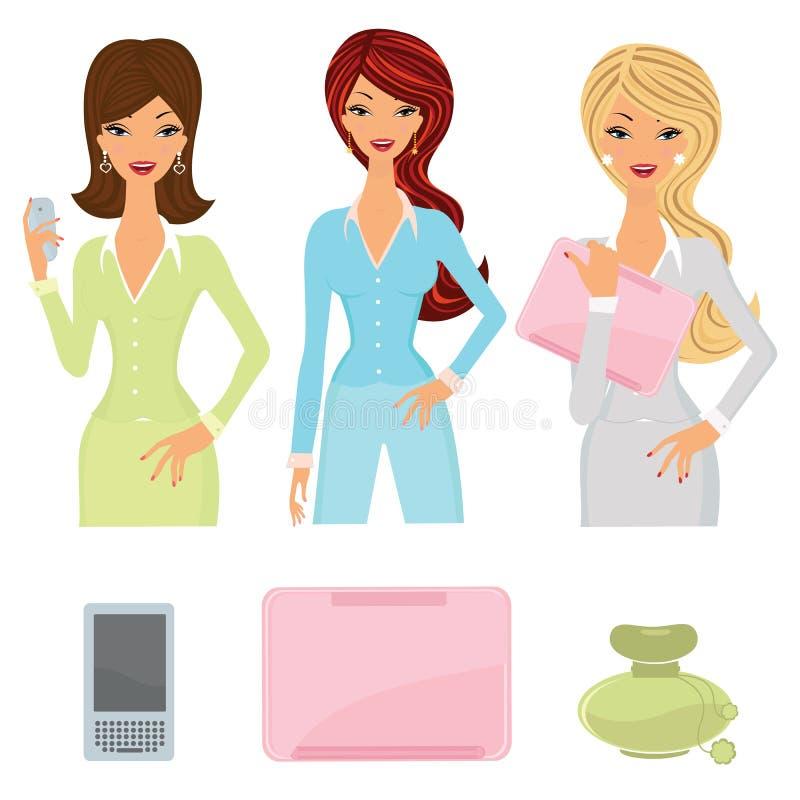 set kvinnor för affär vektor illustrationer