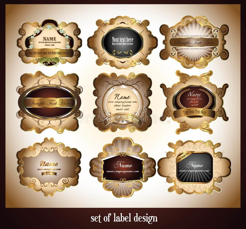 Set of label design