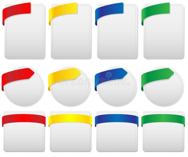 Set of Labels royalty free illustration