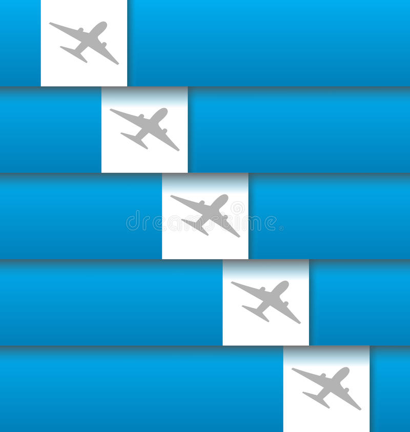 Set of labels with airplanes for aviation company royalty free illustration