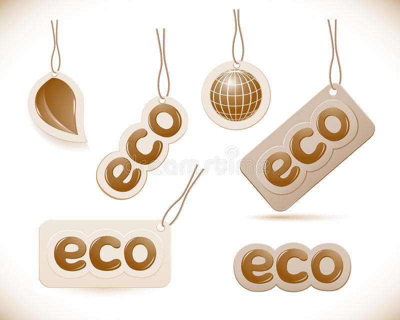 Download Set Of Labels Eco Sign Stock Photo - Image: 26199330