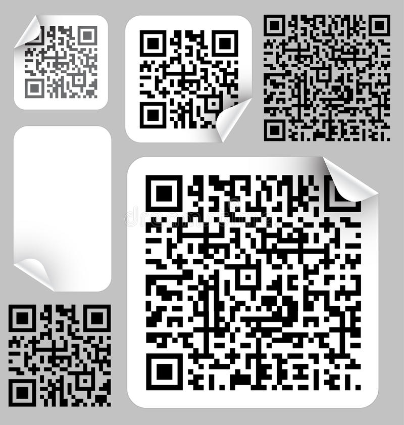 Download Set Of Labels With Qr Codes Royalty Free Stock Images - Image: 13905329