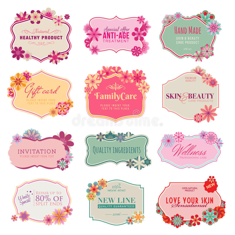 Set of labels and stickers stock illustration