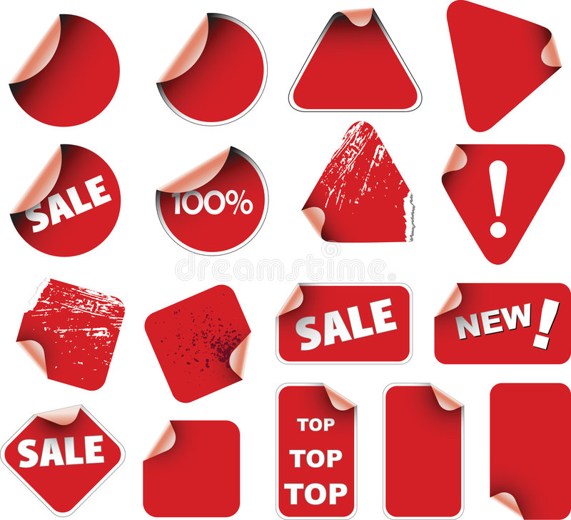 Set of labels and stickers royalty free stock photography