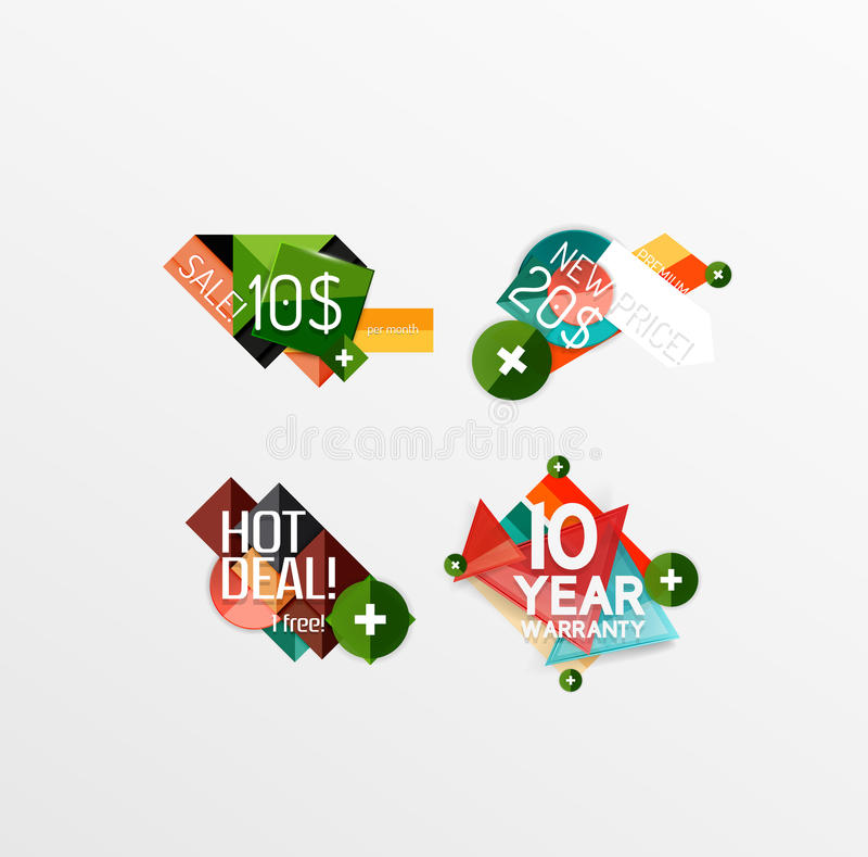 Set of labels, stickers, banners, badges and. Elements for sale. Vector illustration vector illustration