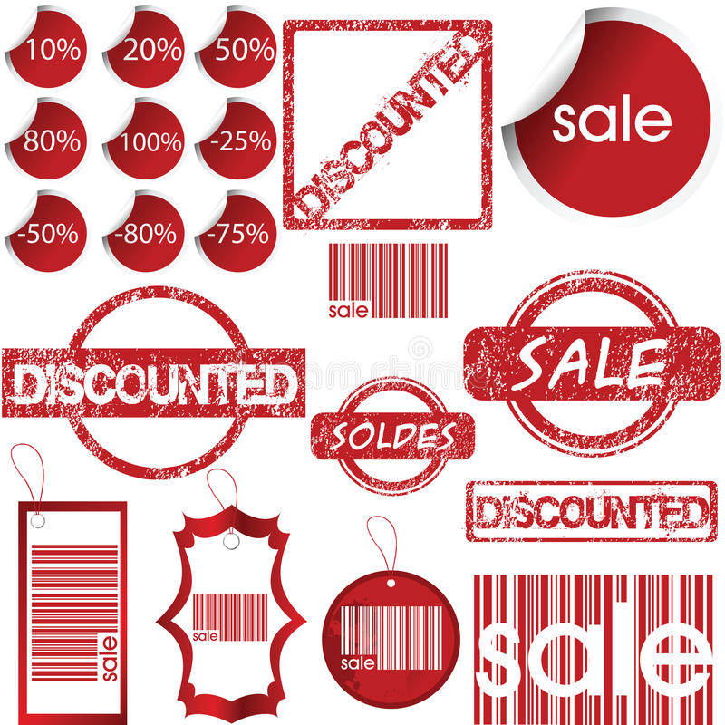 Set of labels, tags, stamps and stickers vector illustration