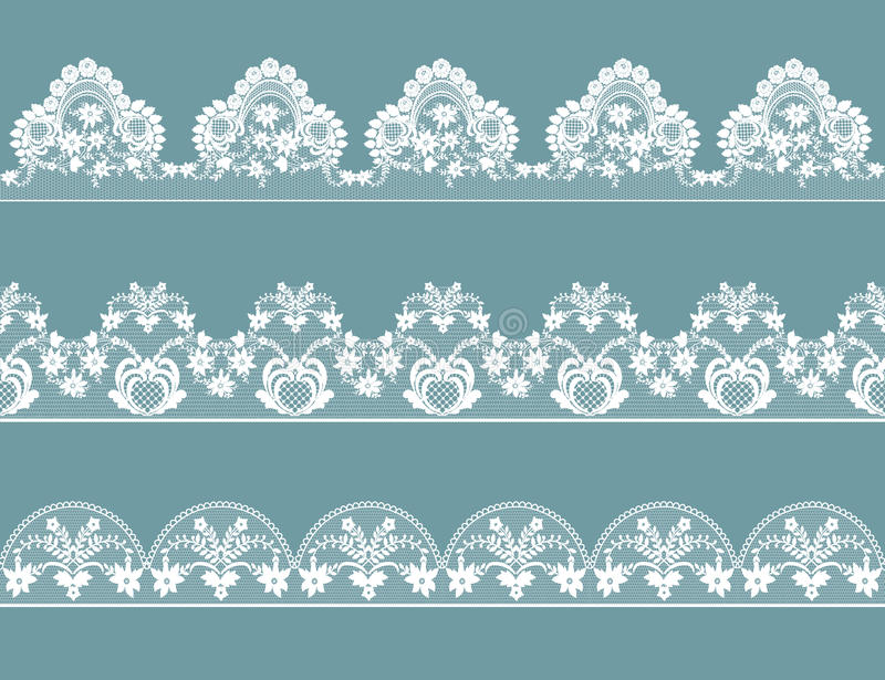 Set of lace borders vector illustration