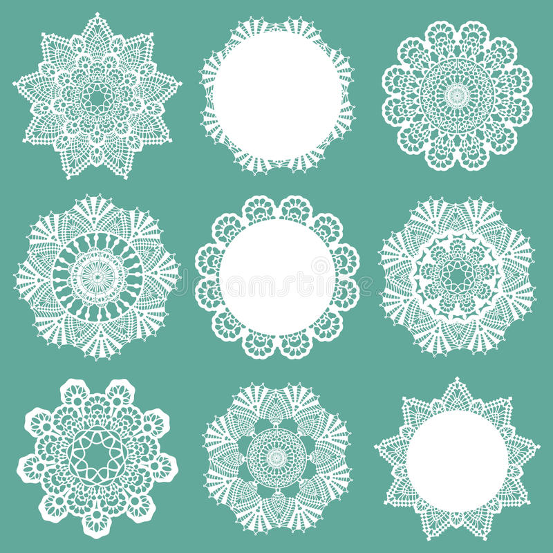 Download Set of Lace Napkins stock vector. Image of elegance, birthday - 27281736