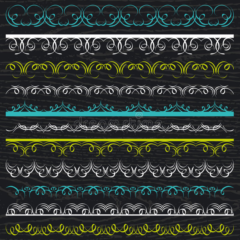Set of Lace Paper, border, frame, vector stock photos