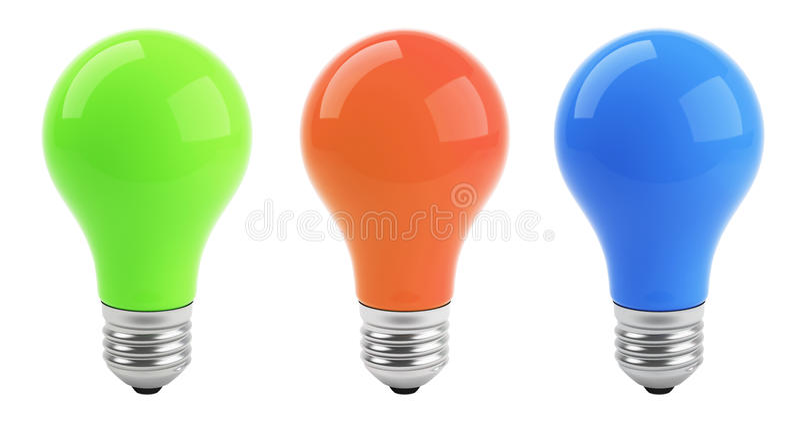 Set Lampen lizenzfreie abbildung