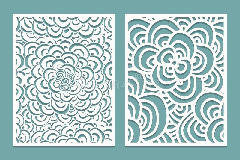 set of laser cut pattern panel templates wood or paper screen lazer