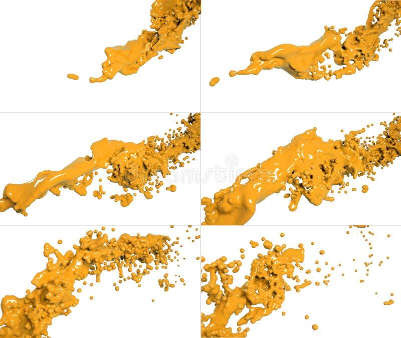 Set latać rzadkopłynnego przepływ ilustracja wektor