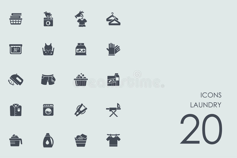 Set of laundry icons. Laundry vector set of modern simple icons vector illustration