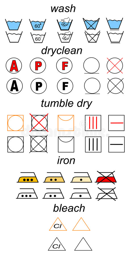 Download Set of laundry symbols stock vector. Image of label, care - 2316518