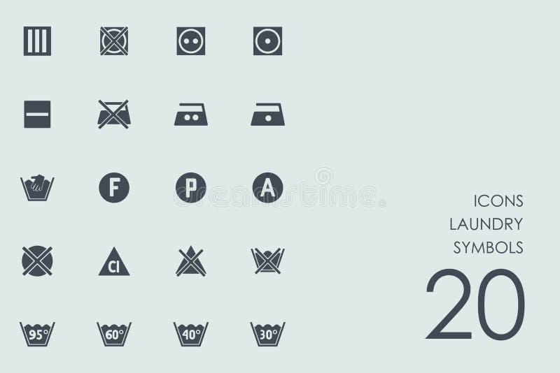 Set of laundry symbols icons. Laundry symbols vector set of modern simple icons vector illustration