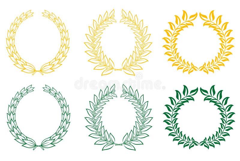 Download Set Of Laurel Wreaths Stock Image - Image: 18984861