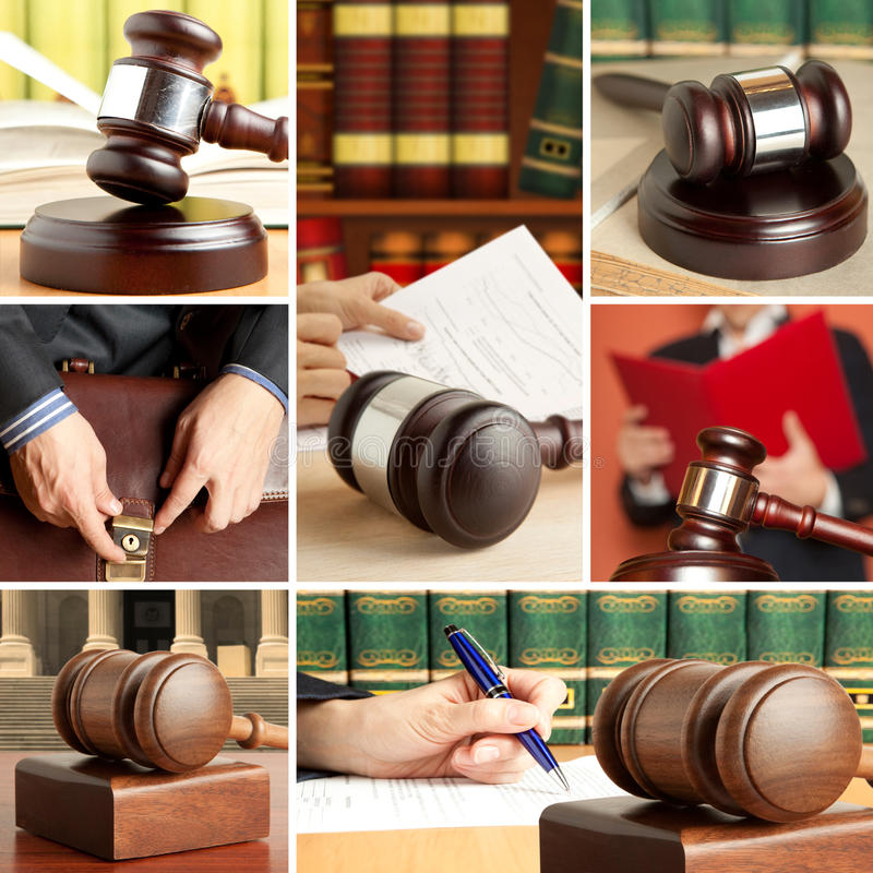 Set of Law 5 stock images