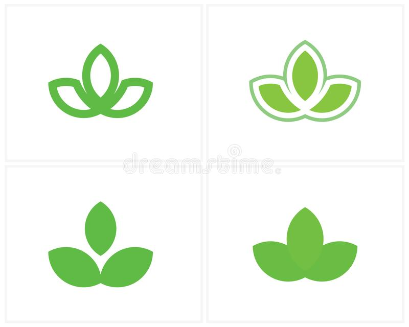 Leaf Logo Design Vector, Green logo template, Nature icon stock illustration