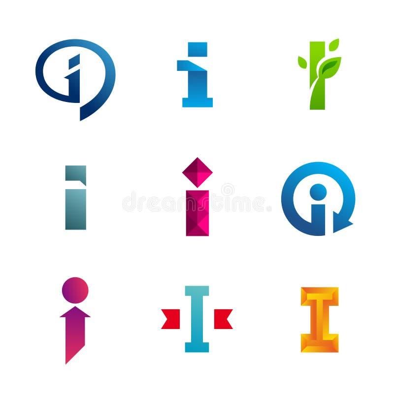 Download Set Of Letter I Logo Icons Design Template Elements Stock Vector    Illustration Of Design  Letter I Template