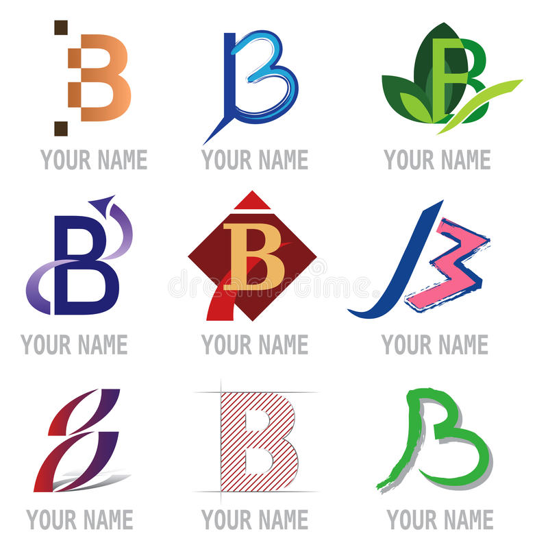 Set of Letter Icons - Letter B royalty free illustration