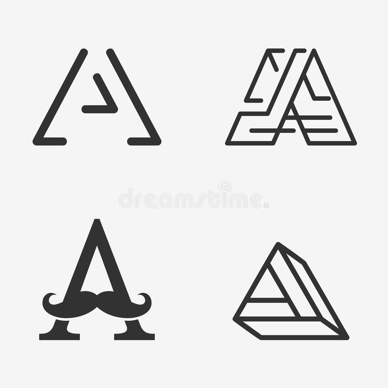 The Set Of Letter A Sign, Logo, Icon Design Template Elements. Stock ...
