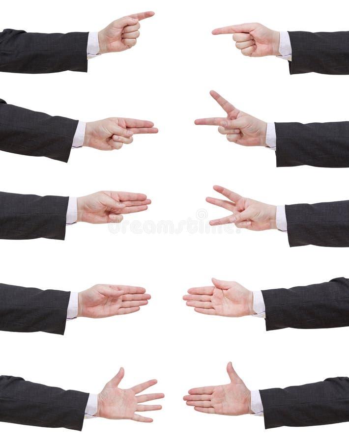 Set licząca biznesmen ręka zdjęcie stock