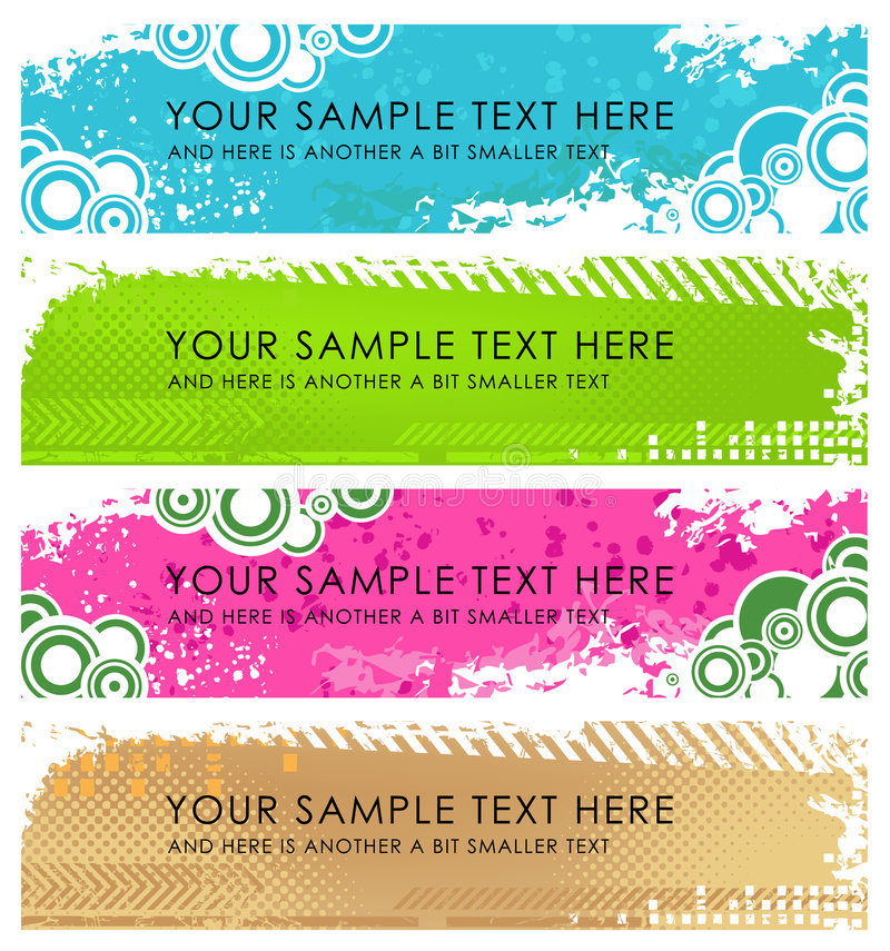 Download Set Of Light Grunge Banners Stock Vector - Image: 9035807