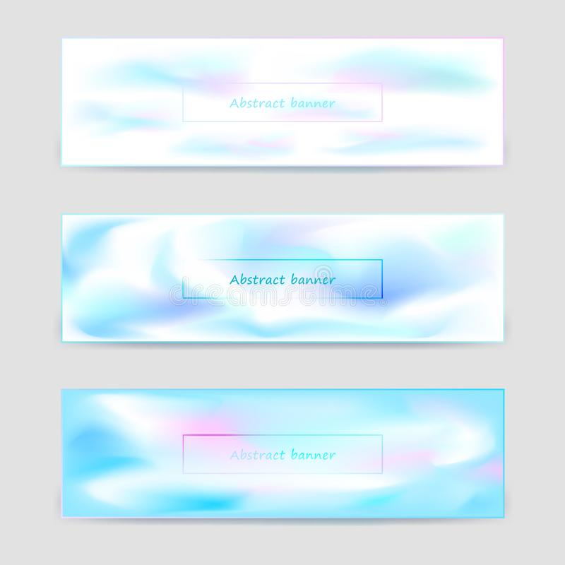 Set of light horizontal banners templates royalty free illustration