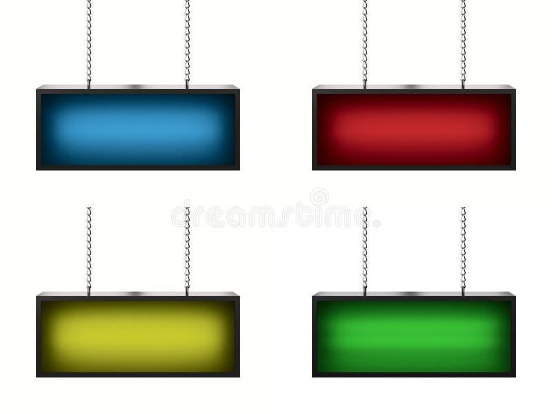 Set lightboxes ilustracja wektor