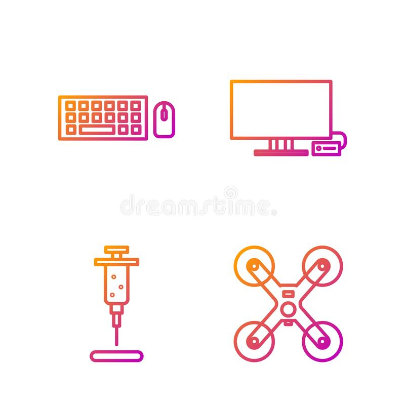 Action Camera Colorful Line Icon, Device Stock Vector