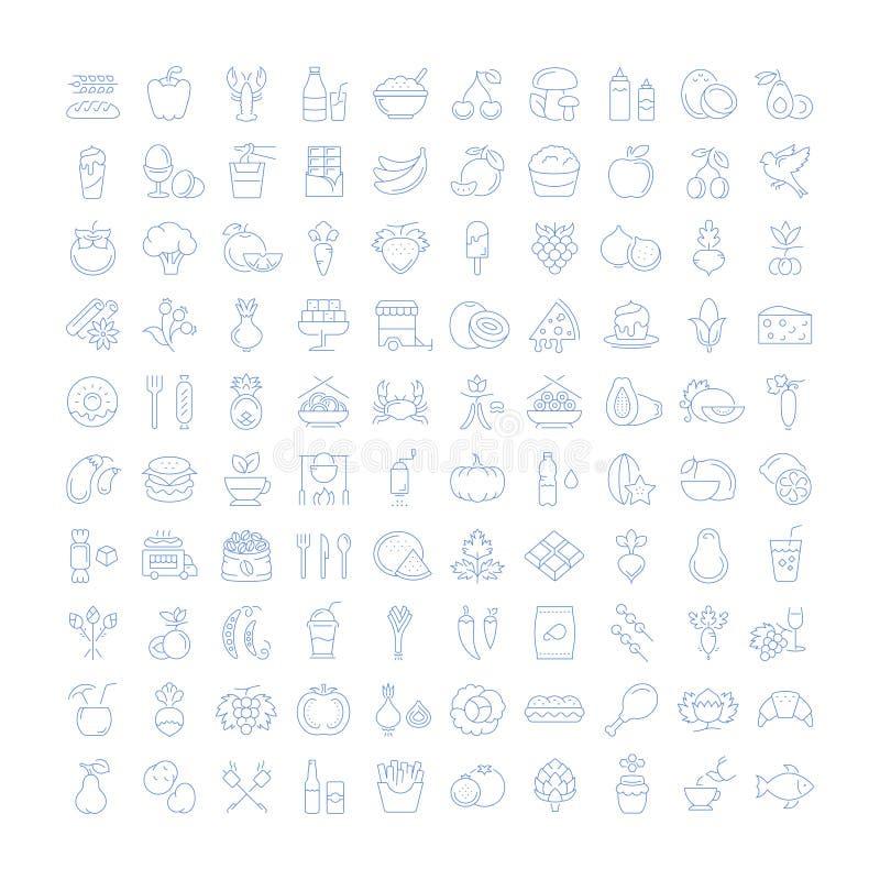 Set Line Icons Food stock illustration